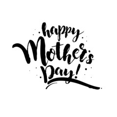 Happy Mother's Day! Black Inscription on a white background. The creative ecard for your mom! Free Download 2021 greeting card