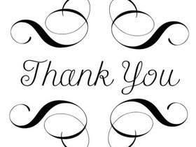 Black & white clip-art. Thank You! JPEG. Free Download 2021 greeting card