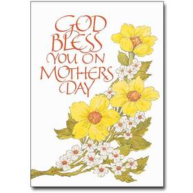Blessing card on mothers day. God bless, mom! Beautiful card with flowers on mothers day. God Bless You, dear and beloved mother! Warms blessing words for mommy on Mother's Day! Free Download 2019 greeting card