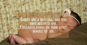 Congratulations on the birth of a child. Card for Dear wife. Thanks for the daughter and son. Baby is a blessing, and you have received one. Congratulations on our little bundle! Free Download 2021 greeting card