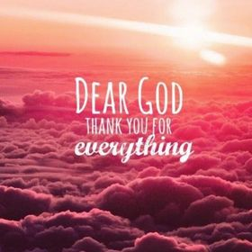 Dear God, Thank You for everything! red sky. Orange sky. Pink bank of clouds. Beautiful sky. Nice ecard. Free Download 2021 greeting card