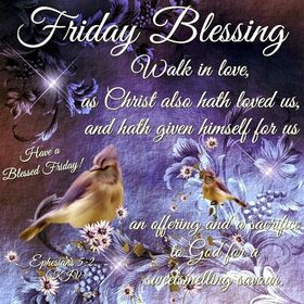 Friday Blessing! Good friday 2018! Bible quotes. Have a Blessed Friday! Beautiful ecards for You and your friends! Birds. Free Download 2021 greeting card