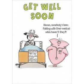 Get Well Soon. National hug day. Funny greeting card. Funny cow and pig. Free Download 2021 greeting card