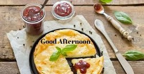 Good Afternoon! Pizza day! Good Afternoon... Pie... Cherry.. Good day.. Free Download 2021 greeting card