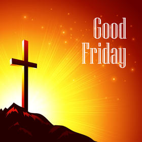 Good friday 2018! Сross of the Lord. The best ecards for You and Your friends. Be happy! New ecard. The bright sun. Free Download 2021 greeting card
