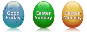 Good Friday, Easter Sunday and Easter Monday. PNG image. Free download online On Good Friday ecards on Good Friday. Free Download 2021 greeting card
