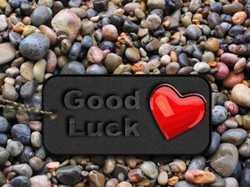 Good Luck. Red heart for You! Good Luck... good day... lucky day... wishes... Ecard for girlfriend or boyfriend. Free Download 2021 greeting card