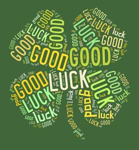 Good Luck. Green colour. Shamrock ecard. Good Luck... good day... lucky day... wishes... Four.... Leaves... Clover... Good-luck... Free Download 2021 greeting card