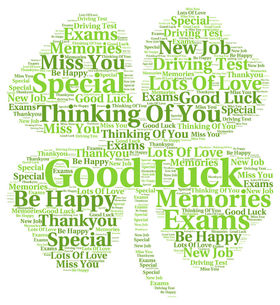 Good Luck. Shamrock. Best phrases. Good Luck... Be happy... special... thinking of you... Lots Of You... New job... Thank you... Memories Free Download 2021 greeting card