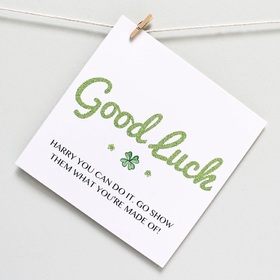 Good Luck. Little Shamrock. Happy You can do it. Good Luck... Be happy... special... thinking of you... Lots Of You... New job... Thank you... Memories Free Download 2021 greeting card