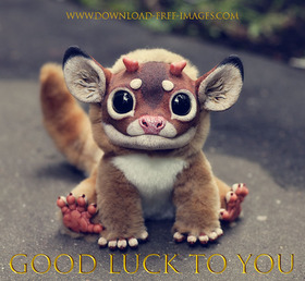 Good luck to you! Everyday Greeting Cards. Cute Monster. Light brown fur, black eyes, and bloody adorable. Gremlins. Free Download 2021 greeting card