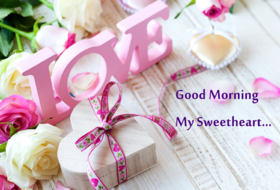 Good Morning my sweetheart. New ecard for free. Good Morning My Sweetheart. Flowers. Roses. Love. Free Download 2019 greeting card