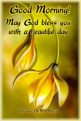 My God bless you! Good Morning. New ecard. Good Morning. Yellow Flowers. Wishes. My God bless you! Free Download 2021 greeting card