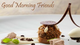 Good Morning, Friends! New ecard for free. Good morning. Friends. Breakfast. Free Download 2021 greeting card