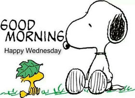 Good Morning! Happy Wednesday! Snoopy. Nature. Clipart. Free Download 2019 greeting card
