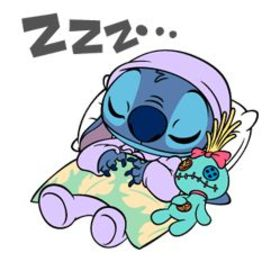 Good Night! I'm already asleep. Cartoon ecards 2018. New ecards. Lilo And Stitch - Cartoon Pictures. Free Download 2019 greeting card