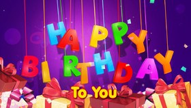 Happy Birthday to you! New ecard for free. Happy Birthday to you. Presents. Free Download 2021 greeting card