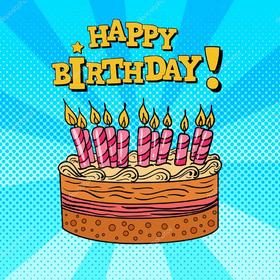Download this Happy Birthday cake with candles. Happy Birthday. Happy Birthday Cake. Pink Candles. New ecard for free. Free Download 2021 greeting card