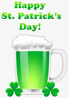 Happy St. Patrick's day! A home brew. A Shamrock. Free Download 2021 greeting card
