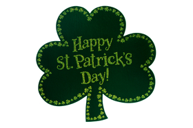 Happy St. Patrick's day! The Shamrock. JPG. Dark green color. Free Download 2021 greeting card
