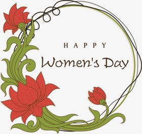 Happy Women's day! Red flowers. Greeting card. Beautiful ecard. For you favorite lady. Free Download 2021 greeting card