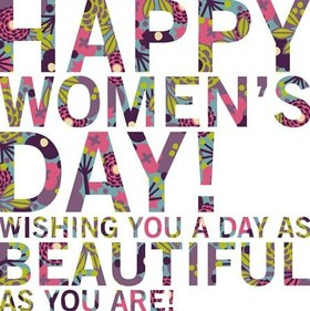 Happy Women's day! Wishing You a day as beautiful as You are! Greeting card. Nice ecard. Beautiful text. Texture font. Free Download 2021 greeting card