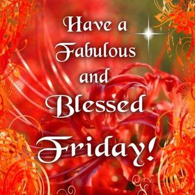 Have a Blessed Good friday 2018! Wishes for friends. Ecards. Have a fabulous and blessed Friday! Red background. Free Download 2021 greeting card