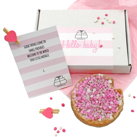 Hello Baby! The Color Pink. Glue, glitter, pink and white construction paper. Hearts. Candy. Free Download 2021 greeting card
