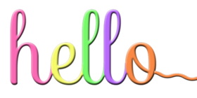 Hello! Color PNG. Colorful text. Cursive inscription . Free Download 2021 greeting card