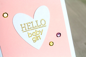 Hello, my baby girl! Heart. Gold text. Creative a ecard of rhinestones. Free Download 2021 greeting card