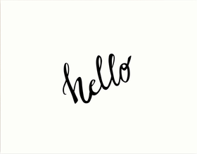 Hello! Text. PNG. Black and White. Free Download 2021 greeting card