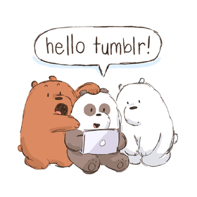 Hello Tumblr! Three bears. Funny bears. Meaning... say hello to your friend! Free Download 2021 greeting card