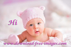 Hi :) Hi to You! Say hello to everyone for me. A little girl baby :) Great smile, hazel eyes, and bloody adorable. Free Download 2021 greeting card
