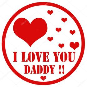 I Love YOU, daddy!!! Red hearts to You! Greeting Card. My dad is the best friend. Dad....Love...Happiness.... happiness is only real when shared... Free Download 2021 greeting card