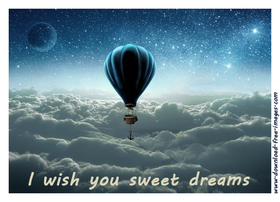 I wish you sweet dreams... Good night greeting card. Free Download 2021 greeting card