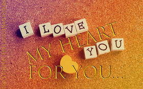 My Heart For You... I love you Greeting Card. Beautiful ecard. Gold text. White cubes. Free Download 2021 greeting card