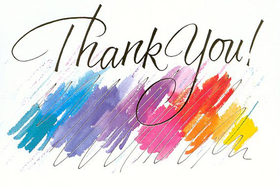 My watercolors. PNG. Thank You! Colorful background. Free Download 2021 greeting card