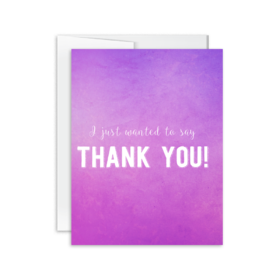 Pink greeting card. PNG. I Just Wanted to Say Thank You. Pink ecard. White Text. Envelope. Free Download 2021 greeting card