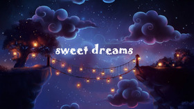 Sweet dreams! Good Night! This fabulous night. Favorite cartoon ecard. Funny dancing lights. Night sky. Free Download 2018 greeting card