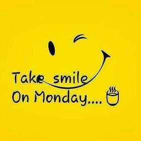 Take smile on Monday! Happy Monday! Free Download 2021 greeting card