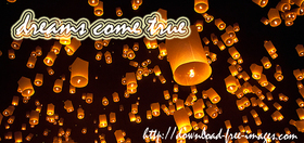 Your dreams come true :) Thousands of lanterns into the sky. Sometimes it's best just to look up at the night sky. Black background. Free Download 2019 greeting card