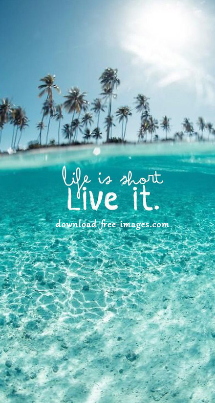 Life is short Live it. Incredibly beautiful fairy ecards 2018. Nature. Sea. Soft, beautiful colors. Free images 2018. JPG. Free Download 2019 greeting card