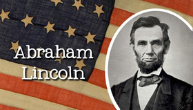Abraham Lincoln. Postcard for you. American Flag. American President. Free Download 2019 greeting card