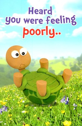 Funny turtle wishes to get well soon. New ecard. Funny turtle. Heard you were feeling poorly. Get well wishes for a child and a friend. Turtle. Get well soon. Free Download 2021 greeting card