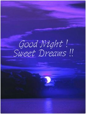 Good Night. Violet Night. White moon. Lake. silver Moon path... Good Night... wishes... sweet Dreams... Free Download 2018 greeting card