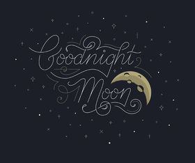 Good Night. Moon. Black background. Good Night... wishes... sweet Dream...Moon... Free Download 2018 greeting card