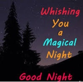 Wishing a magical night to boyfriend Download free image. Let the lunar magical rays take you to the realm of adventure. I love you so much. Sweet dream. Free Download 2018 greeting card