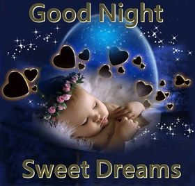 Good Night to lovely daughter. New ecard. Download image. Blue postcard with cute baby for beloved daughter. Sweet dreams and good night, my daughter. Tomorrow will be a new day. Free Download 2021 greeting card