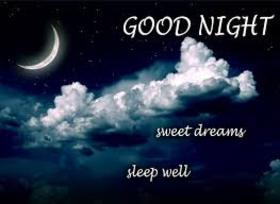 Sleep well, my little sister! Beautiful postcard with night sky. Moon and clouds. Wishing good night for the younger sister. Good night, my angel, I will protect your sleep. Free Download 2018 greeting card