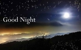 Good Night, My lovely! Good dreams to you. Beautiful postcards with a night landscape for your beloved. Good dreams, dear. Night sky with stars. Good night, sweetie. Free Download 2021 greeting card